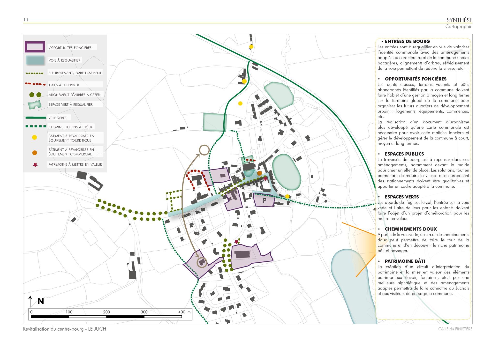 Cartographie de synthèse de l'atelier pédagogique du Juch