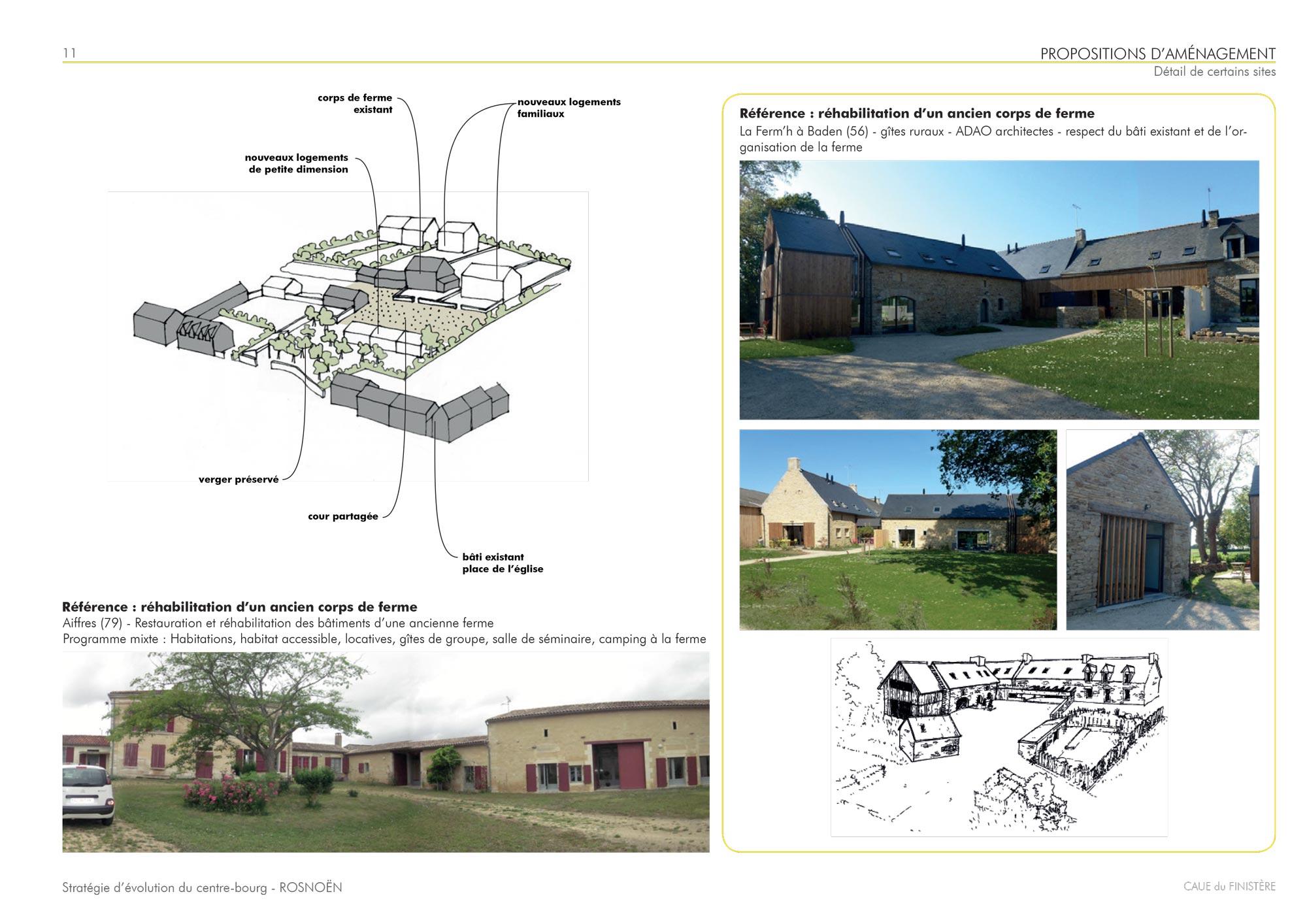 Extrait de l'étude architecturale sur Rosnoen